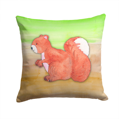 Buy this Squirrel Watercolor Fabric Decorative Pillow BB7431PW1414
