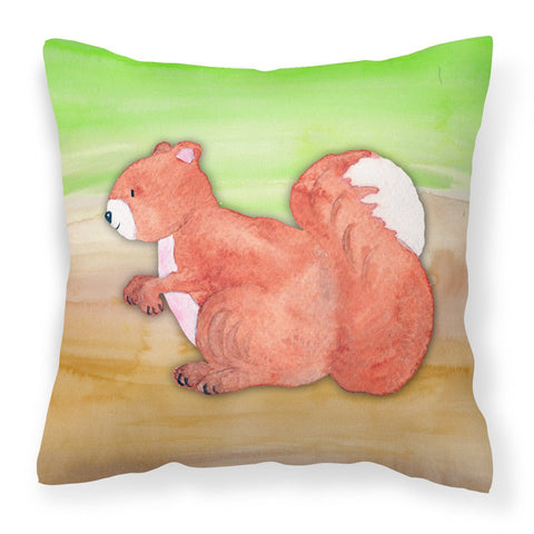 Buy this Squirrel Watercolor Fabric Decorative Pillow BB7431PW1818