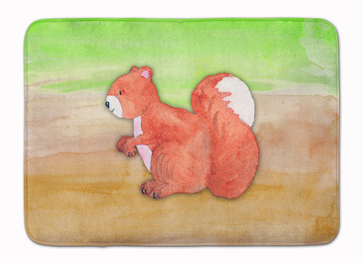 Buy this Squirrel Watercolor Machine Washable Memory Foam Mat BB7431RUG