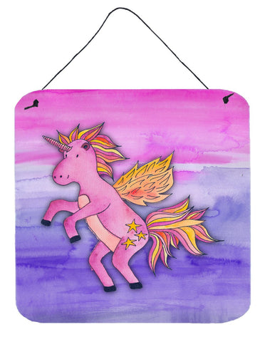 Buy this Pink Unicorn Watercolor Wall or Door Hanging Prints BB7432DS66