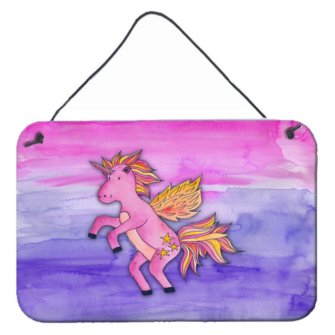 Buy this Pink Unicorn Watercolor Wall or Door Hanging Prints BB7432DS812