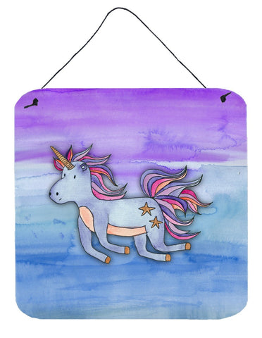 Buy this Blue Unicorn Watercolor Wall or Door Hanging Prints BB7433DS66