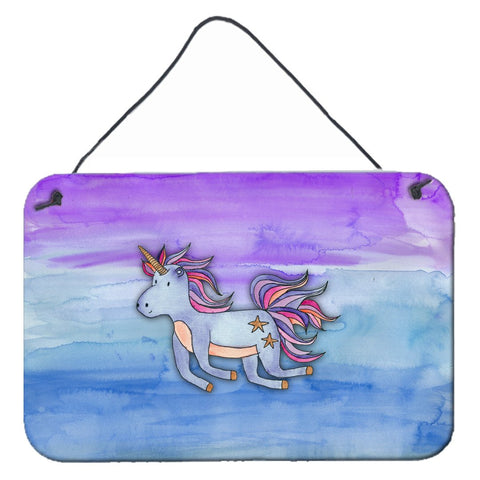 Buy this Blue Unicorn Watercolor Wall or Door Hanging Prints BB7433DS812