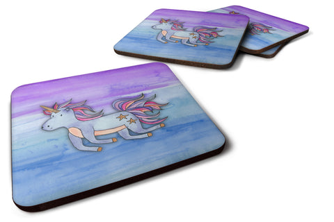 Buy this Blue Unicorn Watercolor Foam Coaster Set of 4 BB7433FC