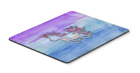 Buy this Blue Unicorn Watercolor Mouse Pad, Hot Pad or Trivet BB7433MP