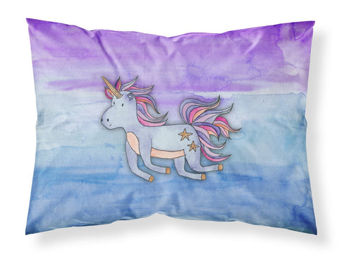 Buy this Blue Unicorn Watercolor Fabric Standard Pillowcase BB7433PILLOWCASE