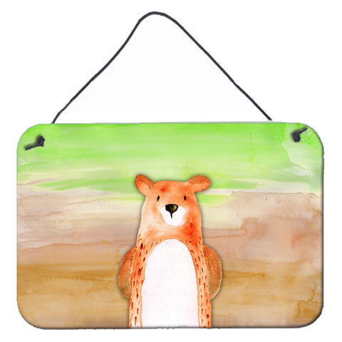 Buy this Bear Watercolor Wall or Door Hanging Prints BB7434DS812