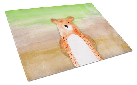 Buy this Bear Watercolor Glass Cutting Board Large BB7434LCB