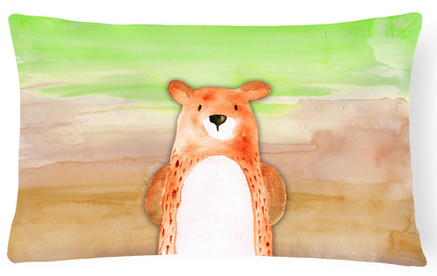 Buy this Bear Watercolor Canvas Fabric Decorative Pillow BB7434PW1216