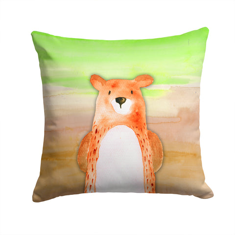 Buy this Bear Watercolor Fabric Decorative Pillow BB7434PW1414