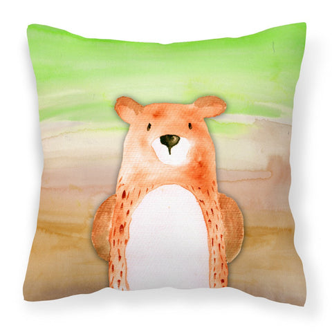 Buy this Bear Watercolor Fabric Decorative Pillow BB7434PW1818