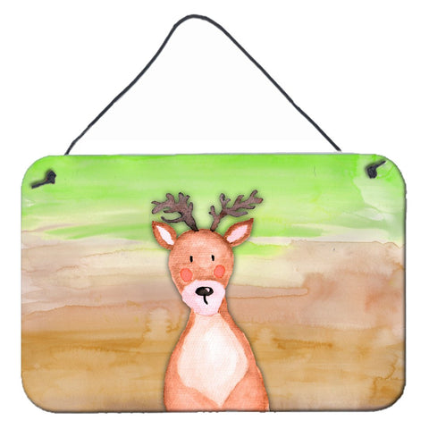 Buy this Deer Watercolor Wall or Door Hanging Prints BB7435DS812