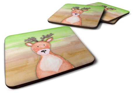 Buy this Deer Watercolor Foam Coaster Set of 4 BB7435FC