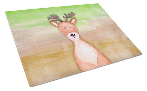Buy this Deer Watercolor Glass Cutting Board Large BB7435LCB