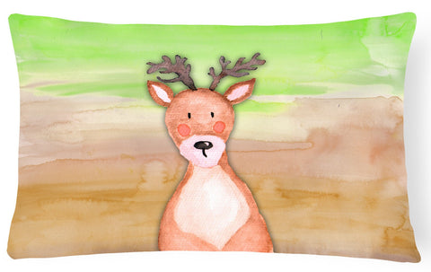Buy this Deer Watercolor Canvas Fabric Decorative Pillow BB7435PW1216