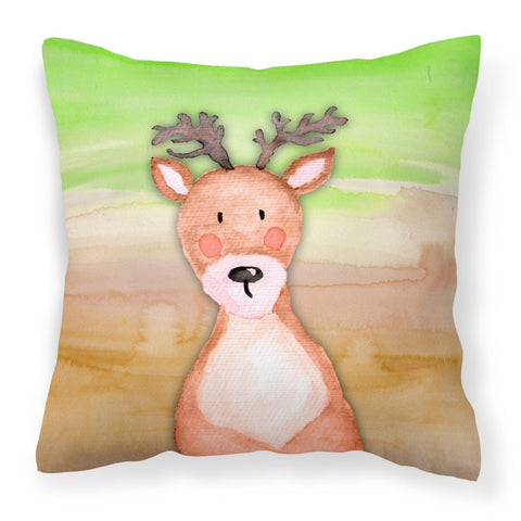 Buy this Deer Watercolor Fabric Decorative Pillow BB7435PW1818