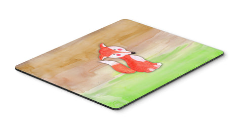Buy this Fox Watercolor Mouse Pad, Hot Pad or Trivet BB7436MP
