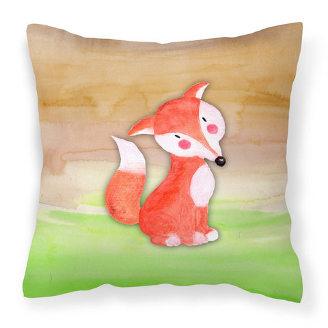 Buy this Fox Watercolor Fabric Decorative Pillow BB7436PW1818