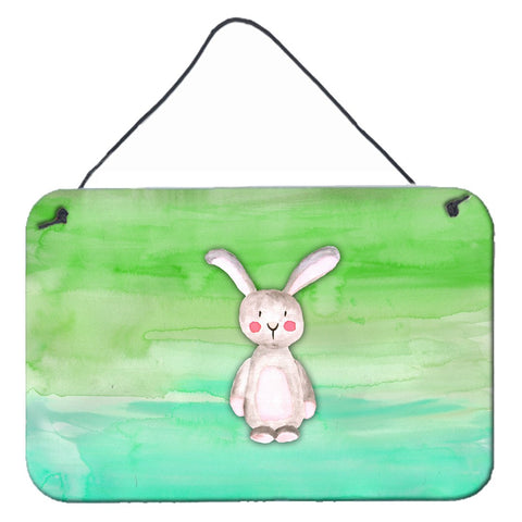 Buy this Bunny Rabbit Watercolor Wall or Door Hanging Prints BB7437DS812