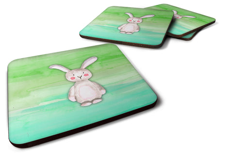 Buy this Bunny Rabbit Watercolor Foam Coaster Set of 4 BB7437FC