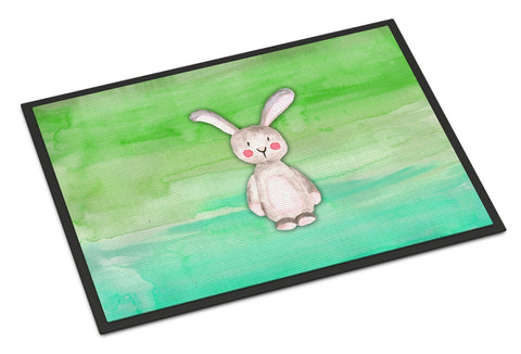 Buy this Bunny Rabbit Watercolor Indoor or Outdoor Mat 24x36 BB7437JMAT