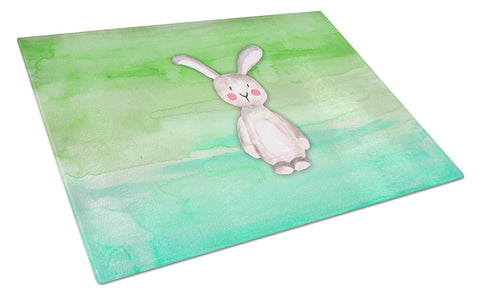Buy this Bunny Rabbit Watercolor Glass Cutting Board Large BB7437LCB