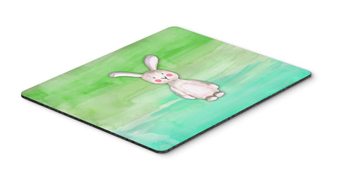 Buy this Bunny Rabbit Watercolor Mouse Pad, Hot Pad or Trivet BB7437MP