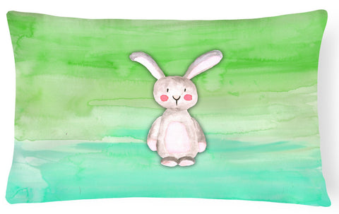 Buy this Bunny Rabbit Watercolor Canvas Fabric Decorative Pillow BB7437PW1216