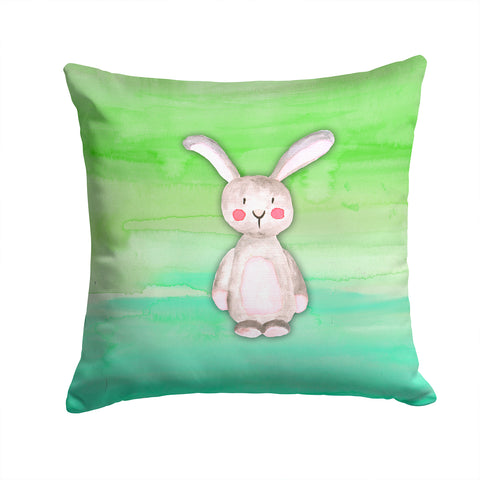 Buy this Bunny Rabbit Watercolor Fabric Decorative Pillow BB7437PW1414