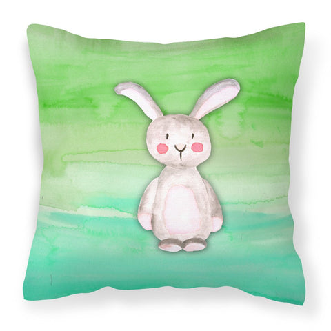 Buy this Bunny Rabbit Watercolor Fabric Decorative Pillow BB7437PW1818