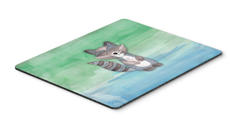 Buy this Raccoon Watercolor Mouse Pad, Hot Pad or Trivet BB7438MP