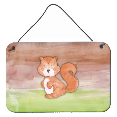 Buy this Squirrel Watercolor Wall or Door Hanging Prints BB7439DS812