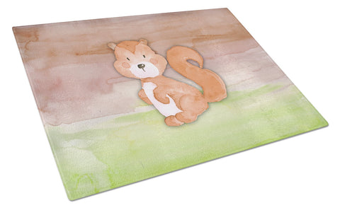 Buy this Squirrel Watercolor Glass Cutting Board Large BB7439LCB