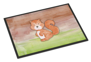 Buy this Squirrel Watercolor Indoor or Outdoor Mat 18x27 BB7439MAT