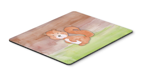 Buy this Squirrel Watercolor Mouse Pad, Hot Pad or Trivet BB7439MP