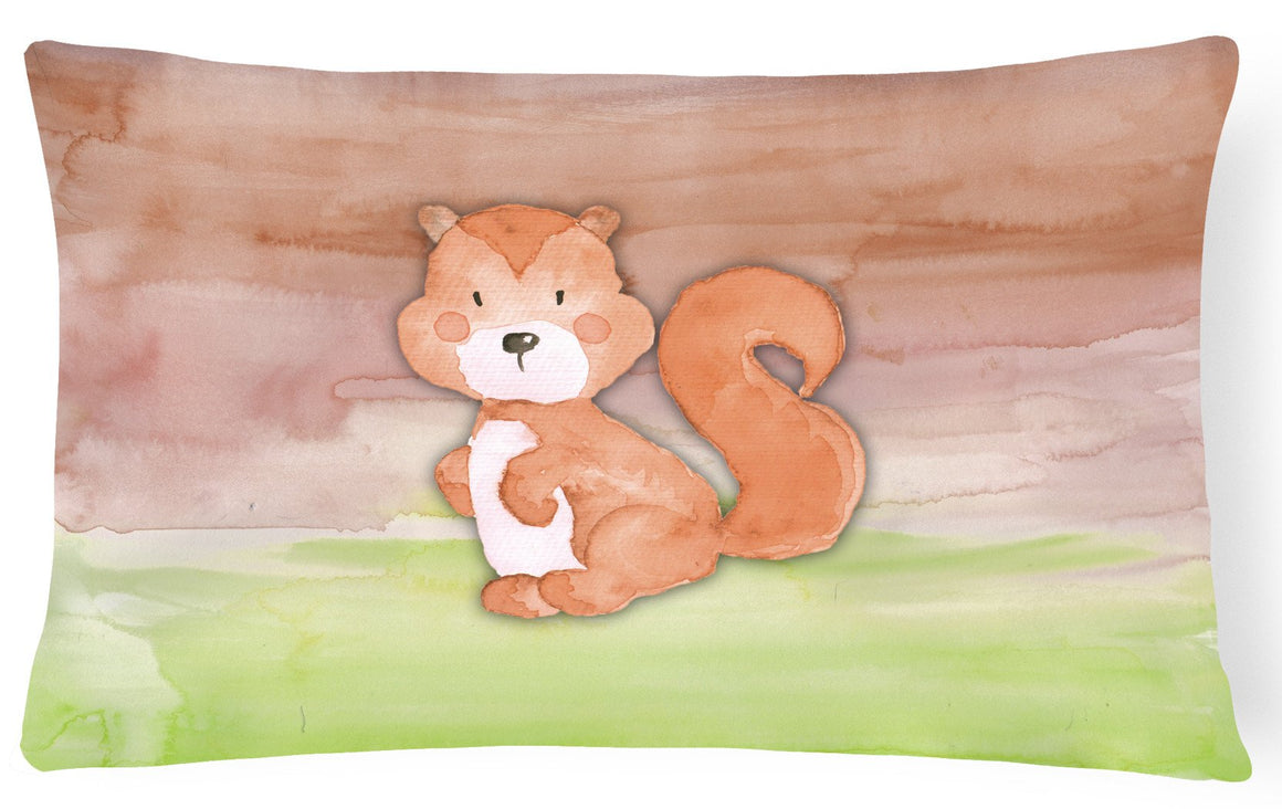 Buy this Squirrel Watercolor Canvas Fabric Decorative Pillow BB7439PW1216