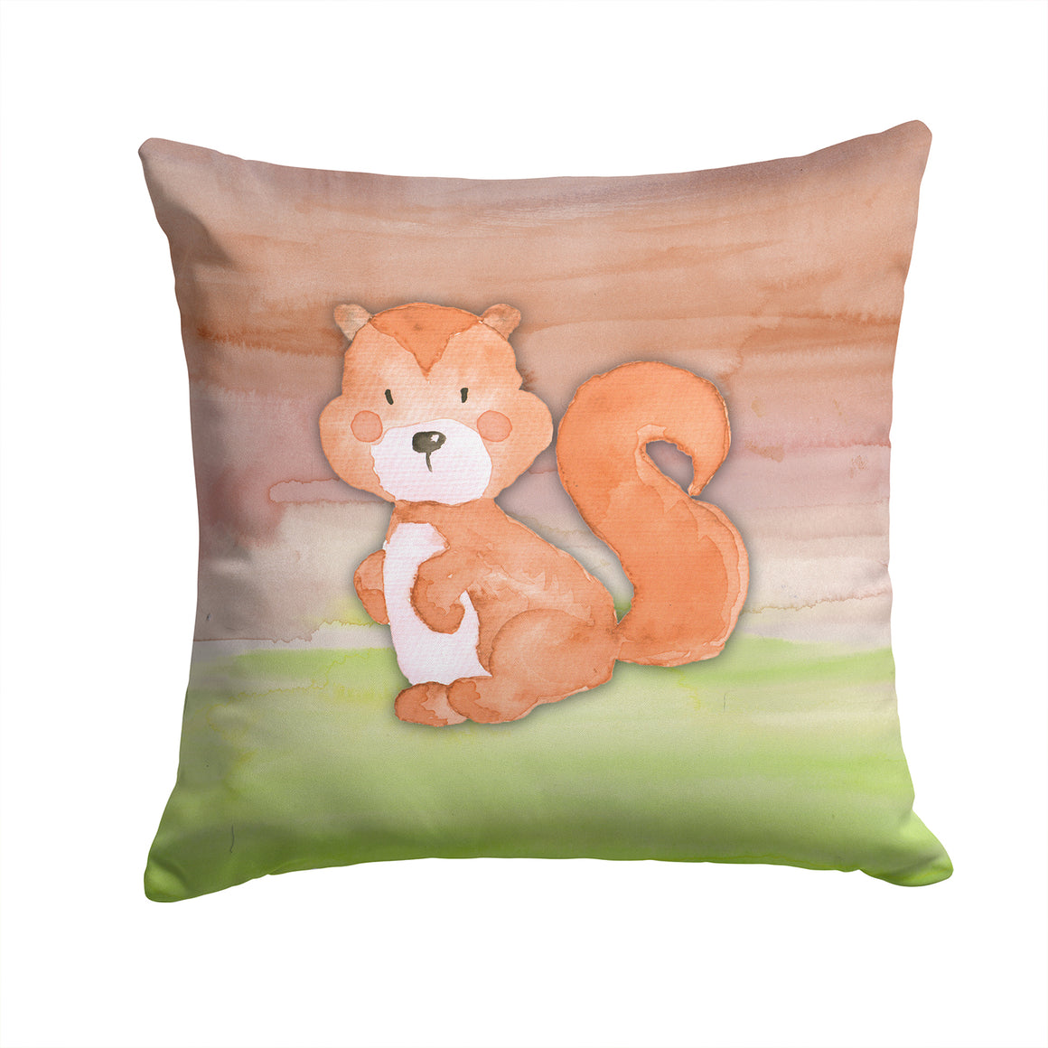 Buy this Squirrel Watercolor Fabric Decorative Pillow BB7439PW1414