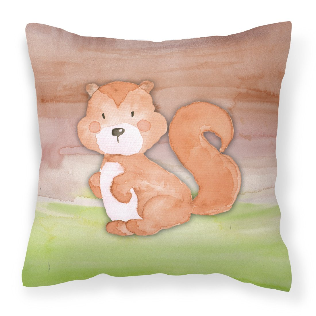 Buy this Squirrel Watercolor Fabric Decorative Pillow BB7439PW1818