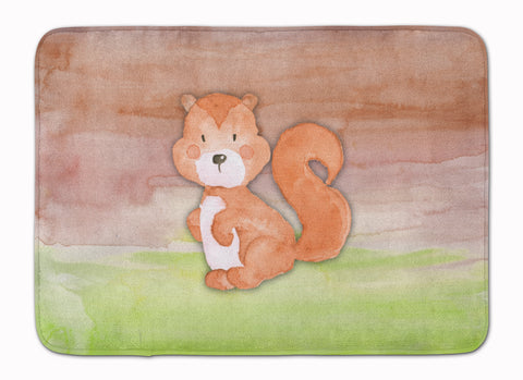 Buy this Squirrel Watercolor Machine Washable Memory Foam Mat BB7439RUG