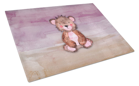 Buy this Bear Cub Watercolor Glass Cutting Board Large BB7441LCB