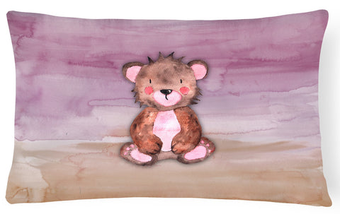 Buy this Bear Cub Watercolor Canvas Fabric Decorative Pillow BB7441PW1216