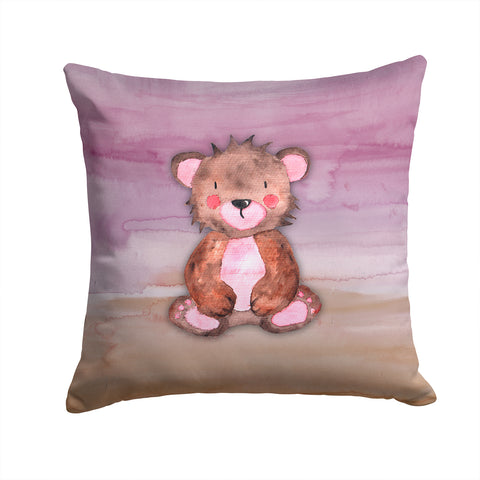 Buy this Bear Cub Watercolor Fabric Decorative Pillow BB7441PW1414