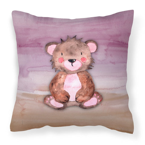 Buy this Bear Cub Watercolor Fabric Decorative Pillow BB7441PW1818