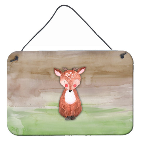 Buy this Baby Deer Watercolor Wall or Door Hanging Prints BB7442DS812