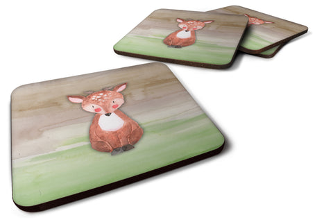 Buy this Baby Deer Watercolor Foam Coaster Set of 4 BB7442FC
