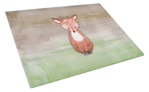 Buy this Baby Deer Watercolor Glass Cutting Board Large BB7442LCB
