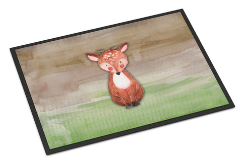 Buy this Baby Deer Watercolor Indoor or Outdoor Mat 18x27 BB7442MAT