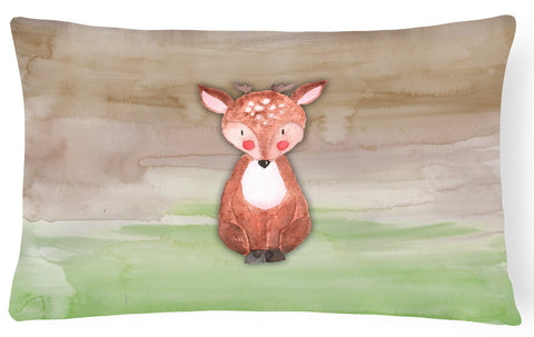 Buy this Baby Deer Watercolor Canvas Fabric Decorative Pillow BB7442PW1216