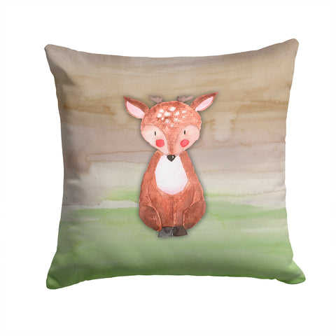 Buy this Baby Deer Watercolor Fabric Decorative Pillow BB7442PW1414