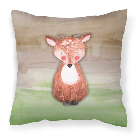 Buy this Baby Deer Watercolor Fabric Decorative Pillow BB7442PW1818